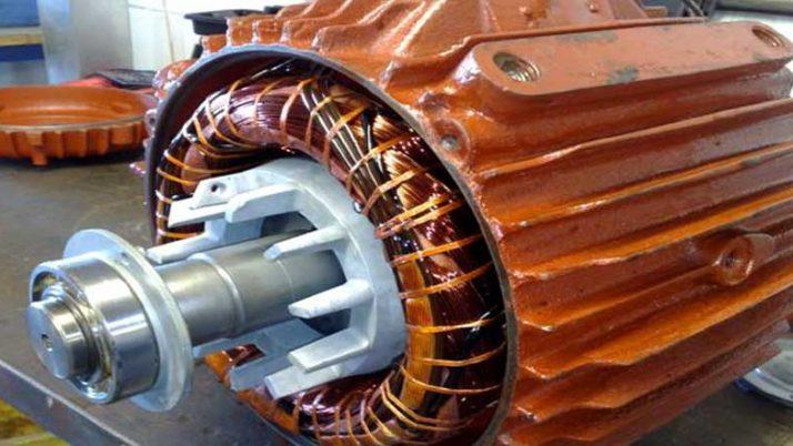 Water pump and motor winding